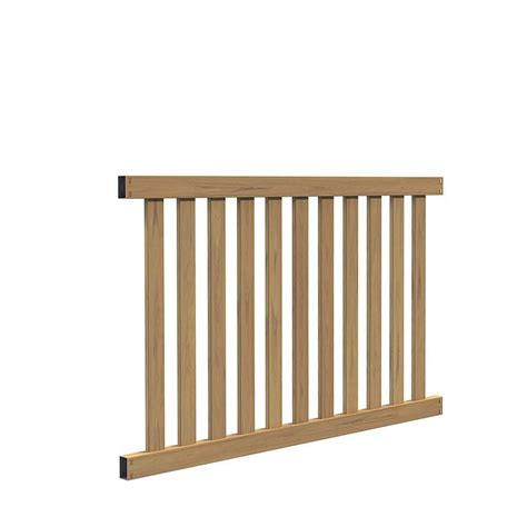 veranda colorado 4 ft h x 6 ft w cypress vinyl fence