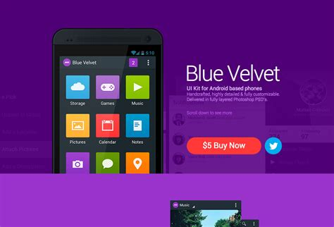 Android Ui by Blue Velvet Android Ui Kit Styletheweb