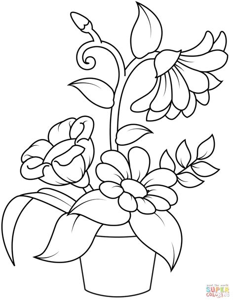 colorare fiori fiori da colorare disegni da stare abrupt carpenter con