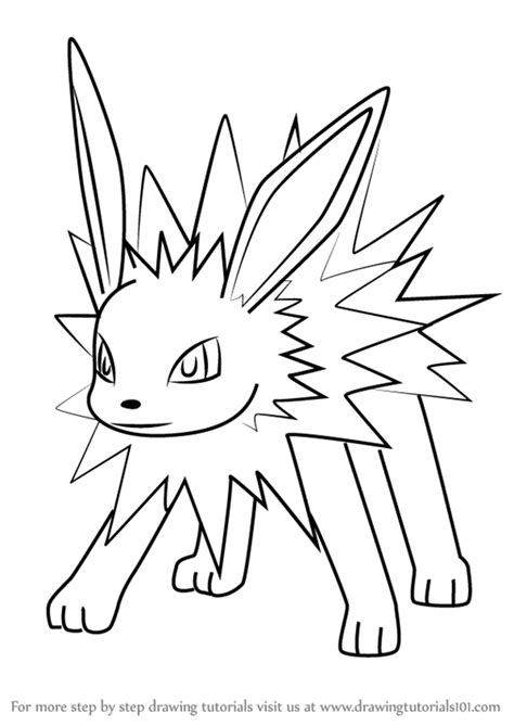 pokemon coloring pages jolteon learn how to draw jolteon from pokemon go pokemon go