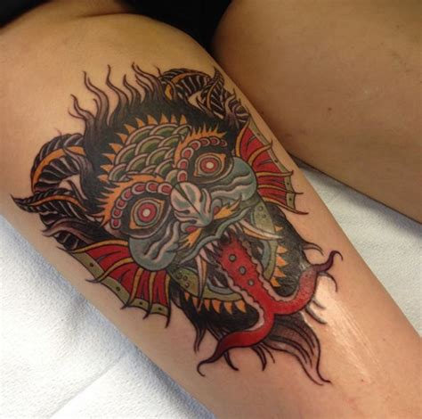 traditional devil rites of passage tattoo