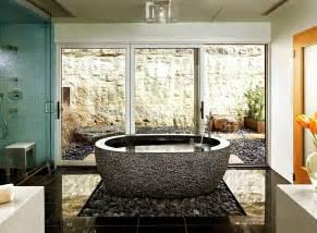 trendy bathroom additions that bring home the luxury spa modern bathroom design with freestanding bath using