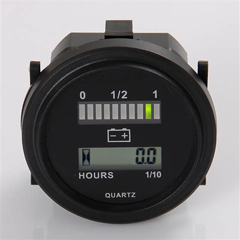 resetting battery gauge quartz led battery indicator digital hour meter for dc