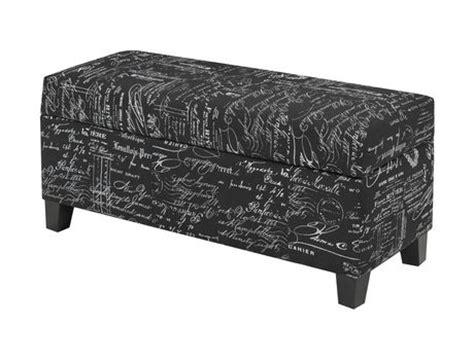 black ottoman walmart brassex ottoman with storage black scripted fabric