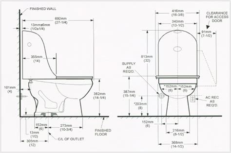 Bathroom Stub Out Dimensions Technical Specssp 233 Cificationsespecificaciones