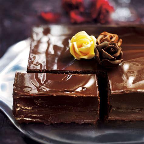 chocolate almond torte woman  home