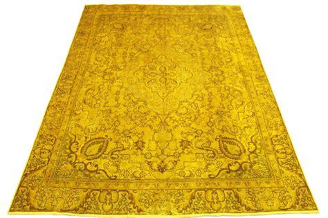 feng shui im wohnzimmer 3399 vintage teppich gold in 360x270cm gelbe teppiche