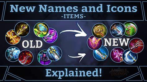 mobile legends items mobile legends new item names and icons explained