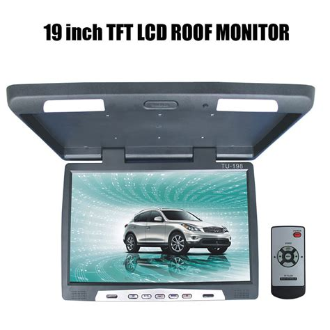 Lcd Monitor Roof 19 inch tft lcd roof monitor in car monitors from automobiles motorcycles on aliexpress