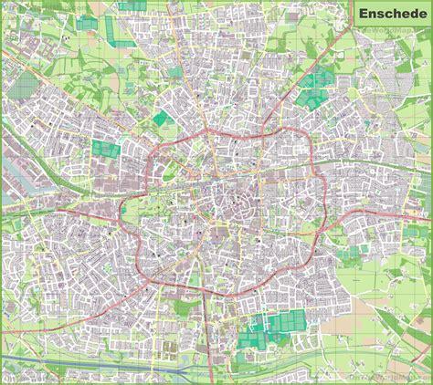 enschede netherlands map large detailed map of enschede