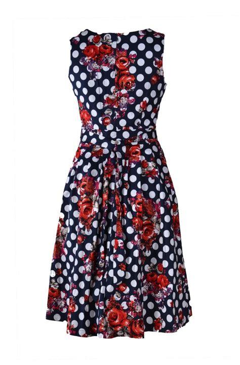 bloemen achter stella jurk mouwloos rode bloemen achter jippiejurk