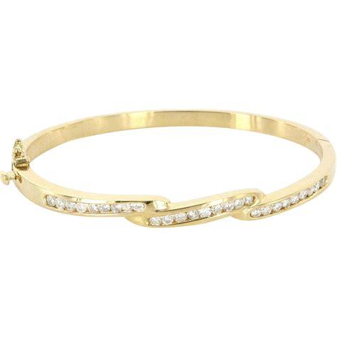 vintage 14 karat yellow gold bangle stack bracelet