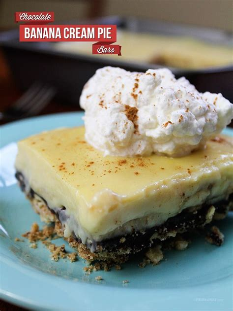 13 Ingredients And Directions Of Chocolate Banana Pie Receipt by 218 Best Pie In The Sky Images On Petit