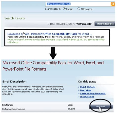 Office 2007 Compatibility Pack by How To Open Office 2007 Files In Office 2003 Nimztech