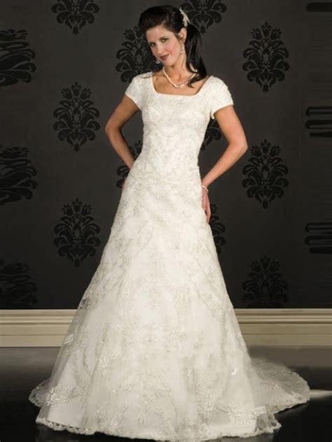 mormon wedding dresses modest