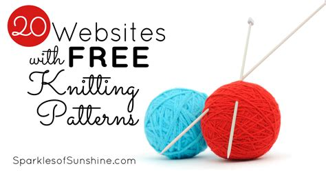 knitting pattern sites 20 websites with free knitting patterns sparkles of sunshine