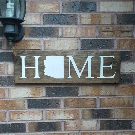 arizona home sign state home decor rustic home sign rustic