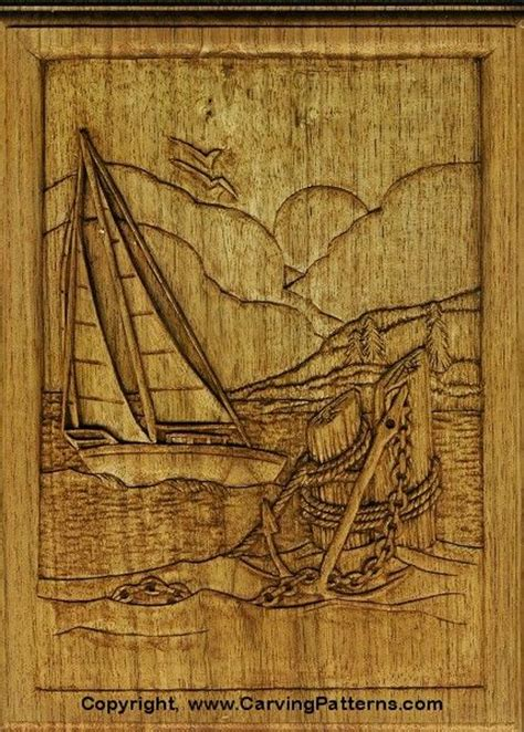 wood carving patterns sailboat relief wood carving project for beginners by l s irish
