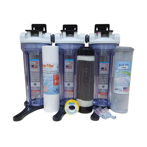 Stok Terbatas Paket Filter Air 3 Tahap Sedimen Gac Cto Clear 1 jual eugen housing set filter air sumur 3 pcs harga kualitas terjamin blibli