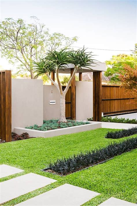 contemporary landscaping 50 modern front yard designs and ideas renoguide