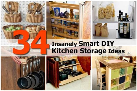 storage ideas for the kitchen 34 insanely smart diy kitchen storage ideas