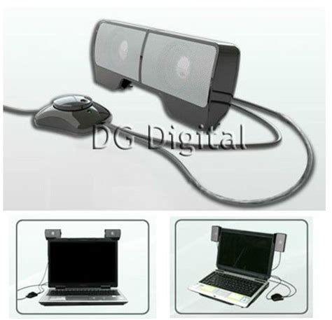 Speaker Mini Untuk Laptop usb portable mini stereo speaker for laptop speaker system for notebook loud speaker with clip