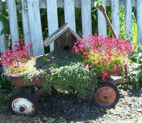 Wagon Flower Planter by Wagon Planter Garden Ideas