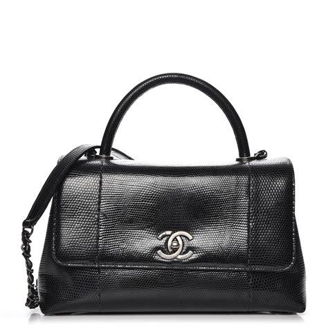 Tas Chanel Coco Handle Medium chanel lizard medium coco handle flap black 228760