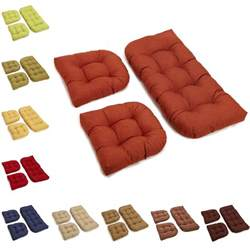 settee cushion set all weather u shaped acrylic outdoor 3 settee bench