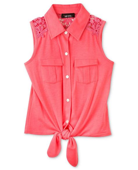best gils bcx top tie front button up from macys epic