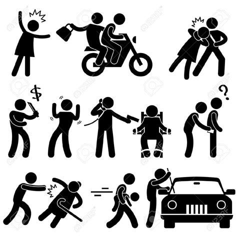doodle combinations terrorism criminal robber burglar kidnapper thief icon symbol