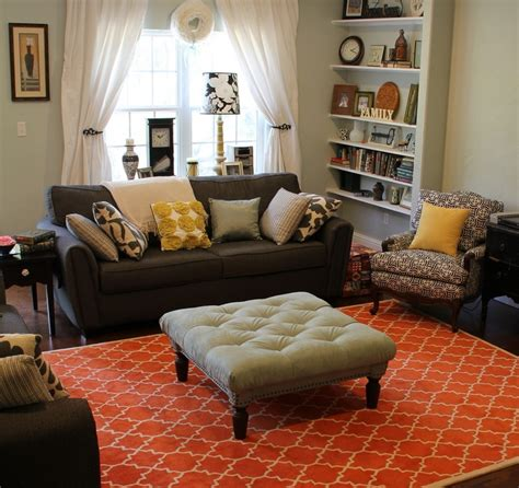 orange rugs for living room eclectic and colorful living room interiors orange rugs sw sea salt and