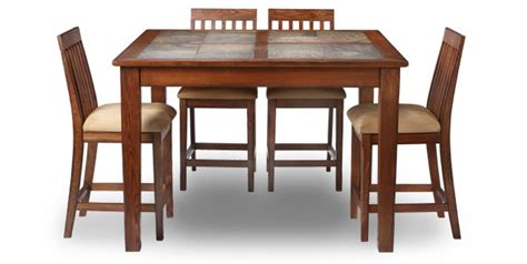 aspen dining room table cabin stuff pinterest oak express aspen 5 pc counter height dining group d5