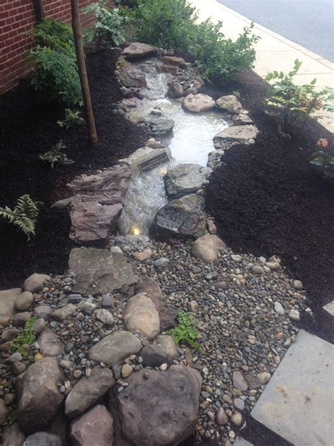 aquascape water features pondless waterfall memorial build at grace lutheran church