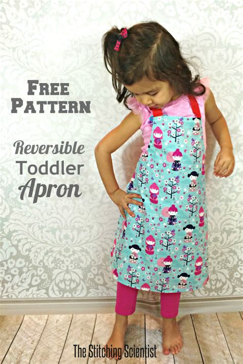 pattern for youth apron reversible toddler apron with free pattern apronpattern