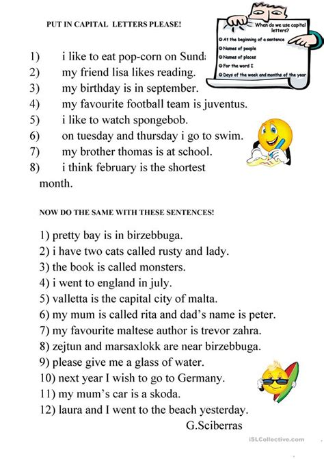 Capital Letters Worksheet by Free Worksheets 187 Capital Letter Worksheets Free Math