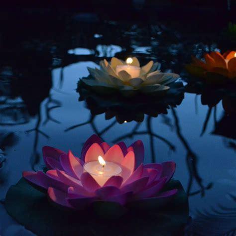 Floating Lotus Flower candle   Floating Lanterns