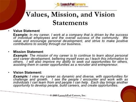 mission statement for non profit template career mapping and planning