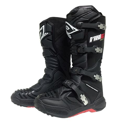 black dirt bike boots oneal new 2016 mx element platinum dirt bike black
