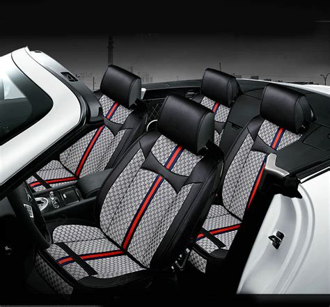 buy wholesale luxury leather gucci print car seat covers