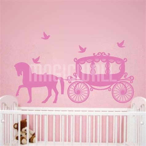 kid room decals wall stickers princess carriage room magic wall