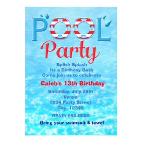 swimming invitations templates free swimming birthday invites 1 000 swimming birthday