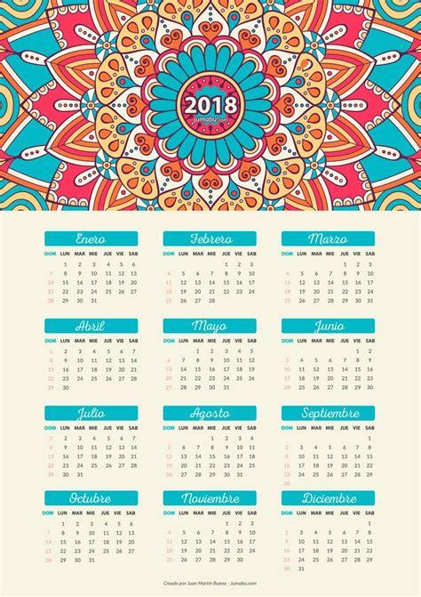Calendario De Este A O Descarga Gratis Este Calendario 2018 Para Imprimir En Tu