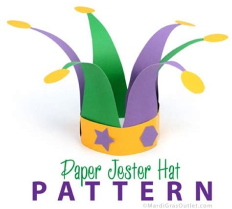 How To Make A Jester Hat Out Of Paper - jester hat family crafts