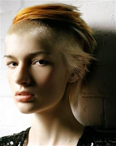 shaved hairstyles with long bangs 152 best images about shave it all off haircuts on