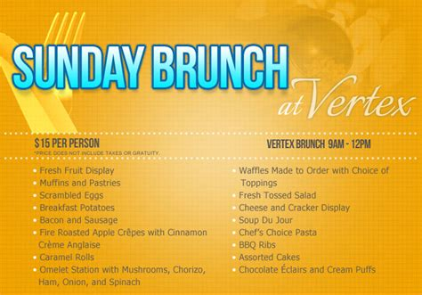 Sunday Brunch Menu Ideas Main Menu Sunday Brunc Ihbbrz Menu For Brunch Buffet