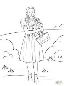 coloring book pages wizard of oz dorothy holding toto coloring page free printable