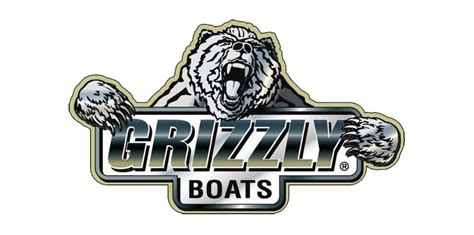 new used fishing boats bass boats pontoons white - Grizzly Boats Logo