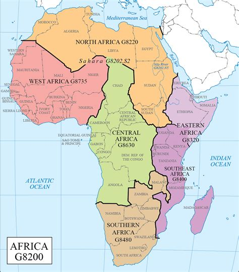 map of west africa map of africa regions map of africa