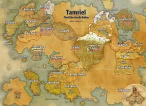 Eso World Map tamriel world map for the elder scrolls online game maps com